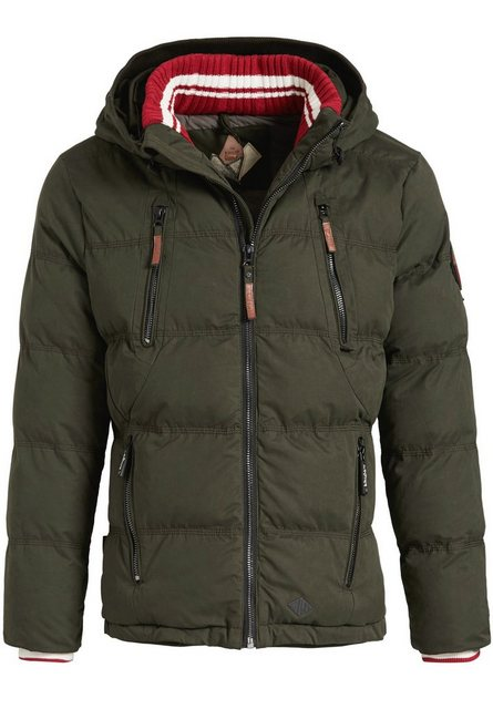 khujo -  Steppjacke »DOME WITH RIB COLLAR« mit warmer Wattierung und Strickkragen