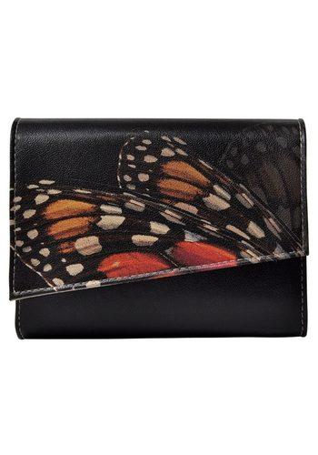 Damen DOGO Abendtasche Monarch Butterfly Black, Vegan schwarz | 08680544158102