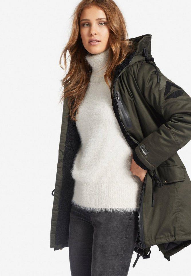 598add270fb5 khujo Wintermantel »ABBIGAIL« mit Futter aus Teddyfell online kaufen ...