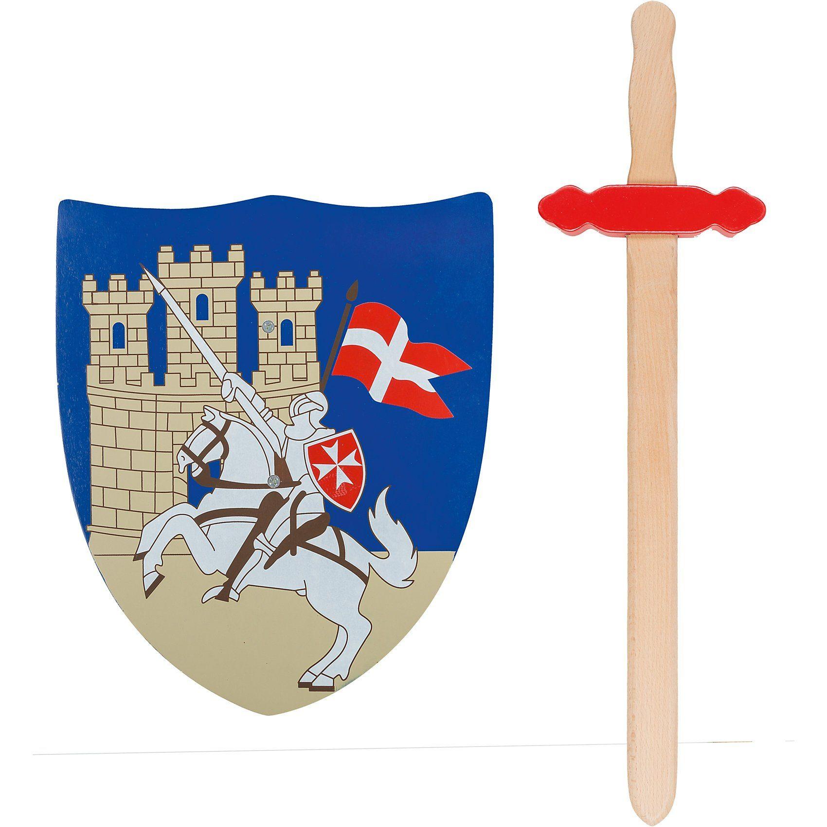 Idena Schild und Schwert Kreuzritter, Holz
