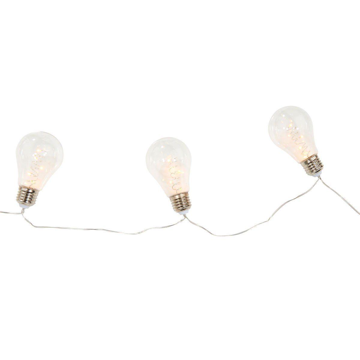 BUTLERS BULB LIGHTS »LED Glühbirnenkette 10 Lichter transparent«