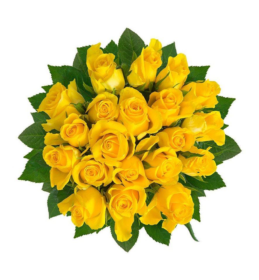 Berühmt FLOWRFRAME Blumenstrauß, 20 frische gelbe Rosen mit XL #HS_19