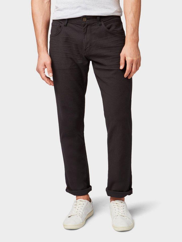 Herren Tom Tailor  Chinohose Josh Regular Slim Jeans schwarz   04060868723547