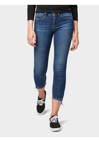 Damen Tom Tailor Denim Skinny-fit-Jeans Nela Extra Skinny Jeans in Ankle-Länge blau | 04060868461920