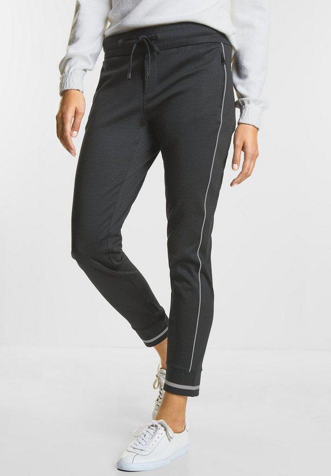 street one boyfriend hose melange joggpants bonny online. Black Bedroom Furniture Sets. Home Design Ideas