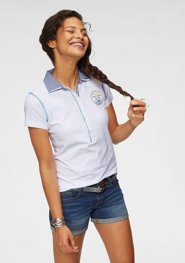 TOM TAILOR Polo Team Poloshirt mit modischem Doppelkragen