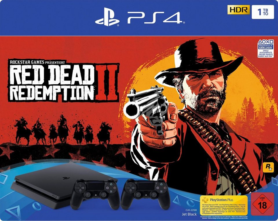 playstation 4 slim ps4 slim 1tb bundle inkl red dead. Black Bedroom Furniture Sets. Home Design Ideas