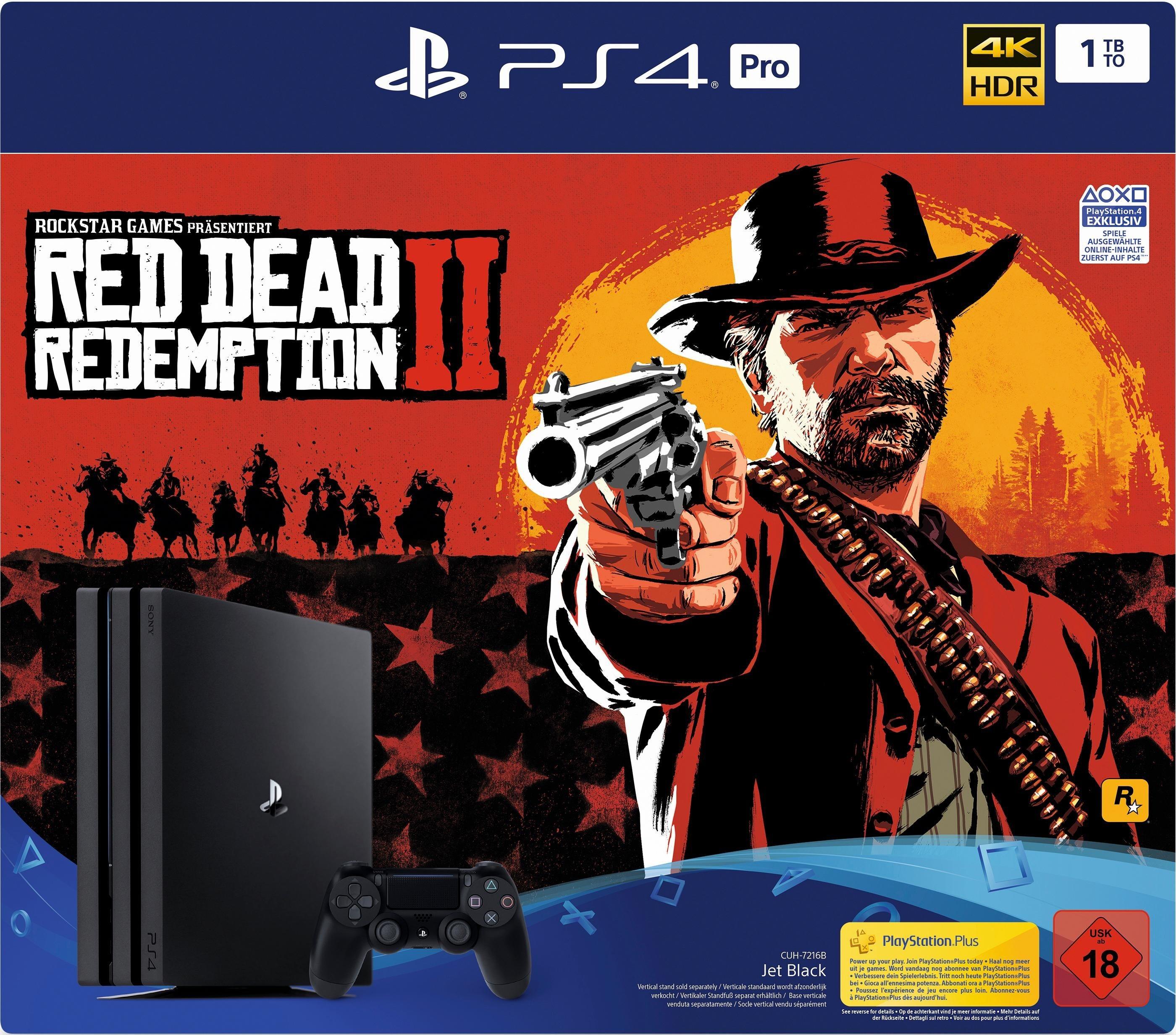 PlayStation 4 Pro (PS4 Pro) 1TB (Bundle, incl. Red Dead Redemption 2)