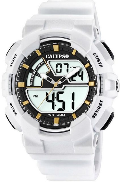 CALYPSO WATCHES Multifunktionsuhr »Digital for Man, K5771/1« | Uhren > Multifunktionsuhren | Weiß | CALYPSO WATCHES