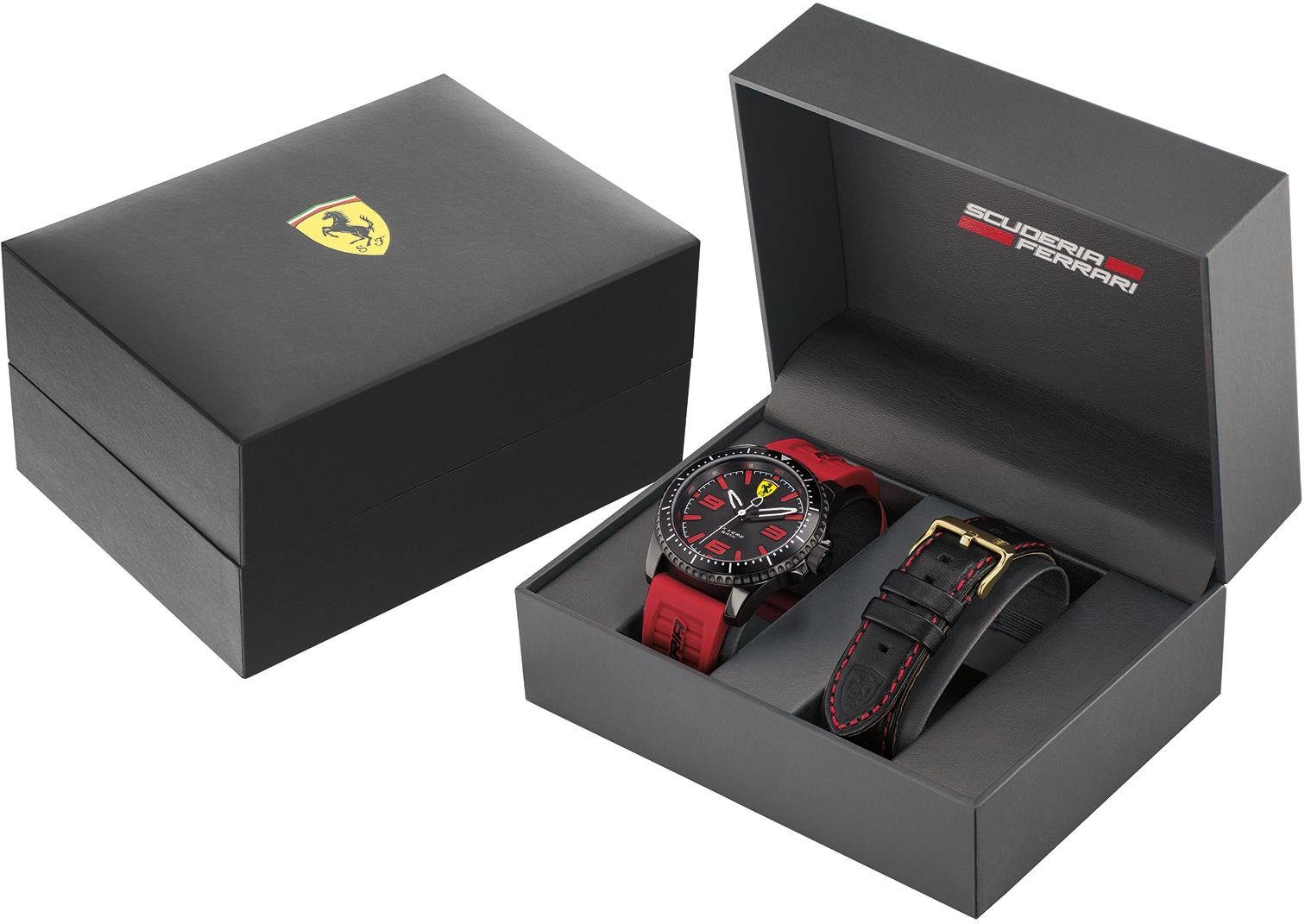 Scuderia Ferrari Quarzuhr »XX KERS, 0830484« (Set, 2 tlg) mit Wechselband