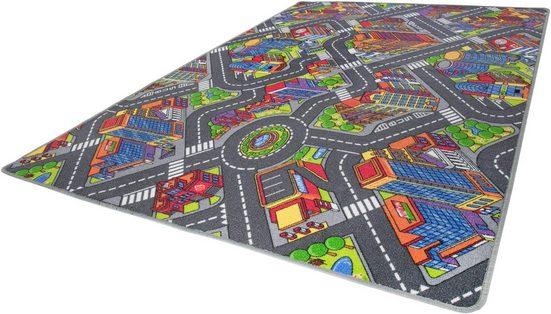 Kinderteppich »Big City«, Andiamo, rechteckig, Höhe 7 mm, Straßen-Spielteppich, Straßenbreite: 8,5 cm, Kinderzimmer