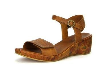 Think! »Wedsch« Sandalette mit bedrucktem Keilabsatz