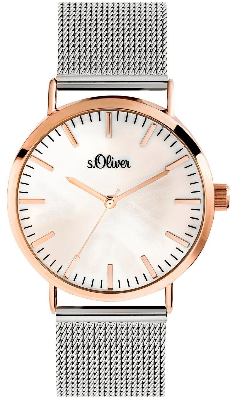 s.Oliver RED LABEL Quarzuhr »SO-3669-MQ«