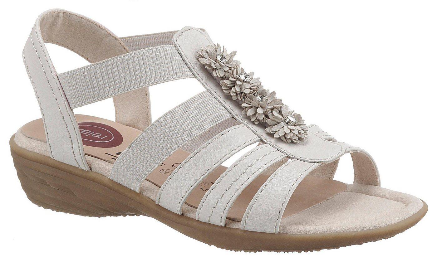 Damen Jana Riemchensandale in komfortabler Schuhweite H natur  Damen Sandalen/Sandaletten