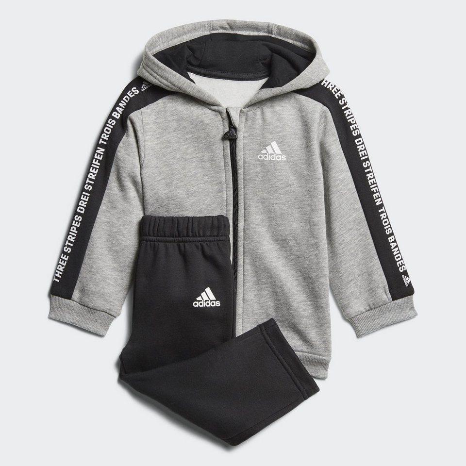 adidas performance trainingsanzug linear hooded fleece. Black Bedroom Furniture Sets. Home Design Ideas