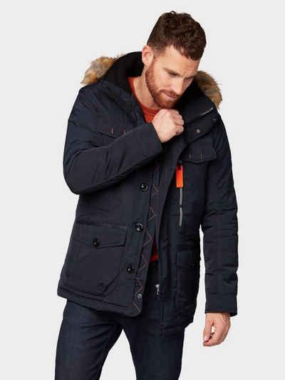 ee3d844249fb Tom Tailor Winterjacke »Jacke mit Kapuze und Kunstfell-Rand«