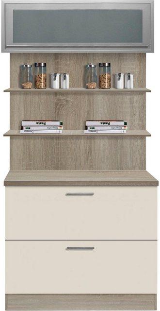 Vitrinen und Schränke - OPTIFIT Küchenbuffet »Kalmar«, Breite 100 cm  - Onlineshop OTTO