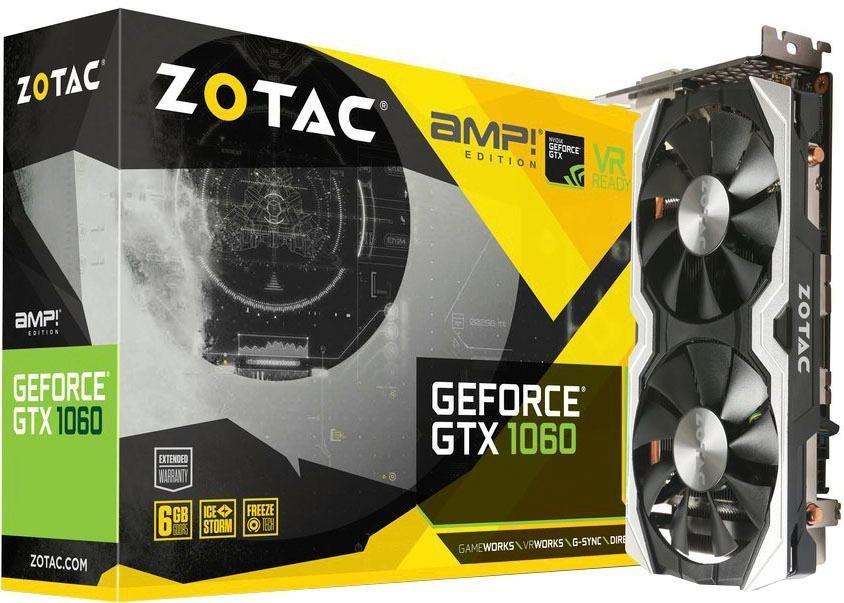 Zotac Gtx 1060 Amp Edition Grafikkarte 6 Gb Gddr5 Silberfarben?$formatz$