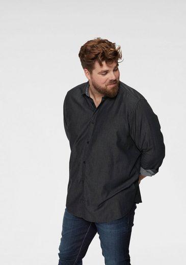 TOM TAILOR Denim Langarmhemd in Jeansoptik