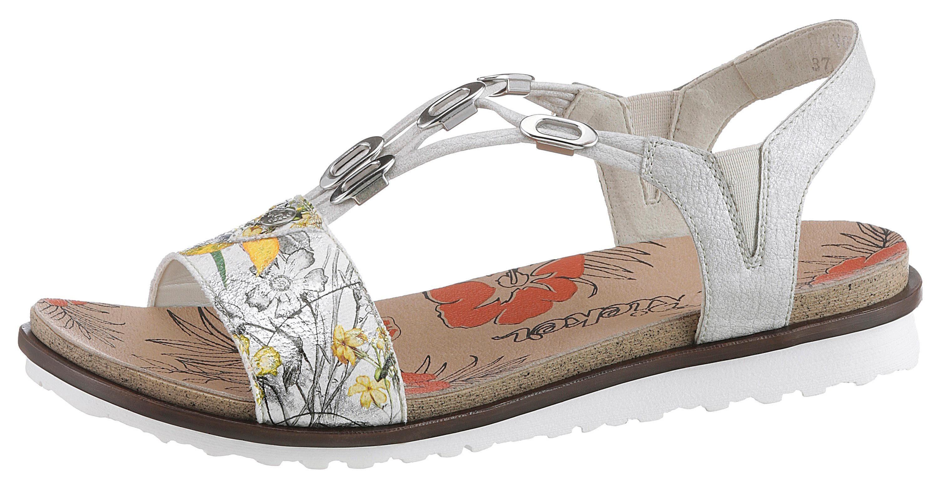 rieker sandalette floraler druck