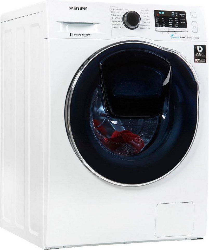 Samsung Waschtrockner AddWash WD5500 WD8EK5A00OW EG 8 Kg 45
