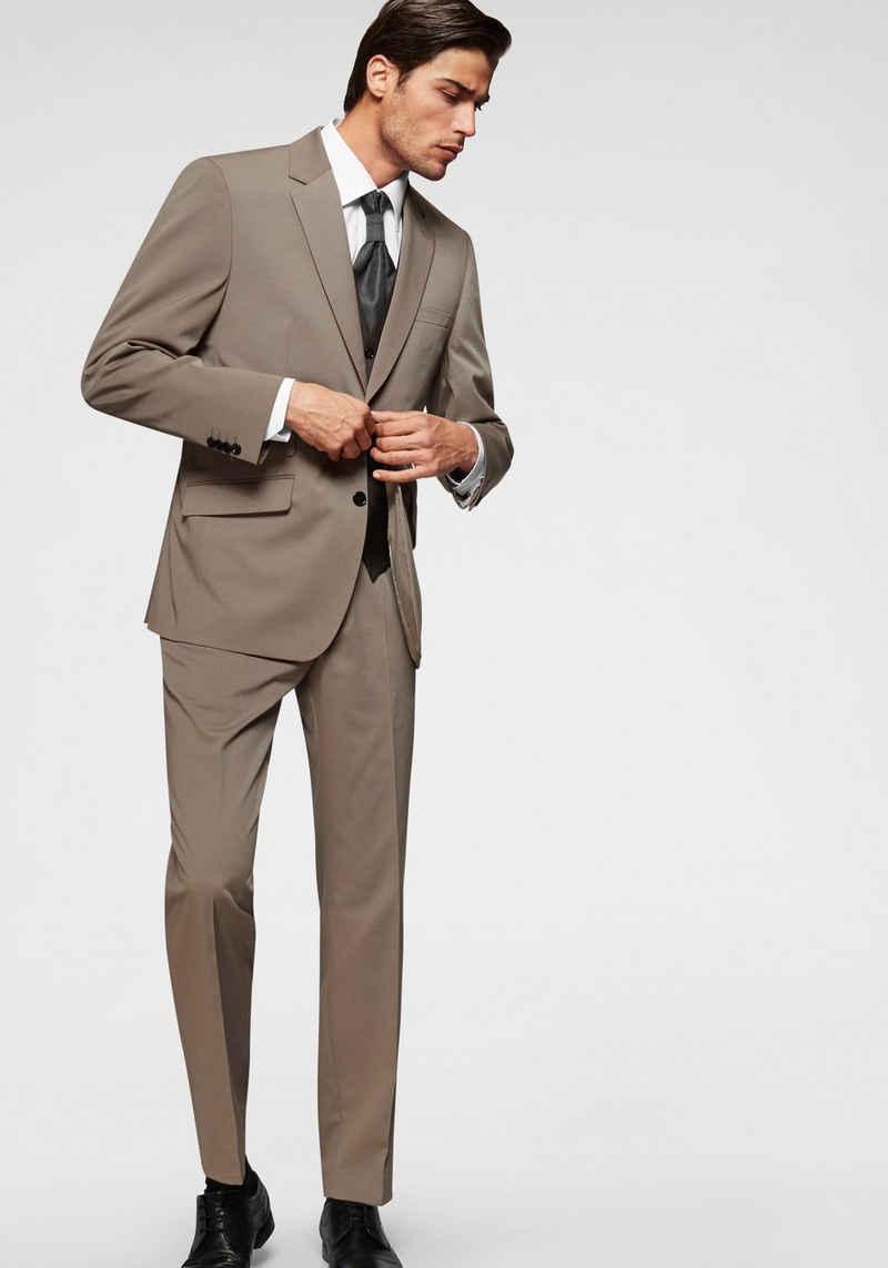 Class International Anzug 4-teilig (4-tlg) Inklusive Weste und Plastron