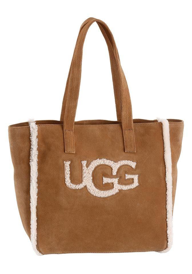 UGG Shopper »ALINA«, aus Leder mit Lammfell Logo