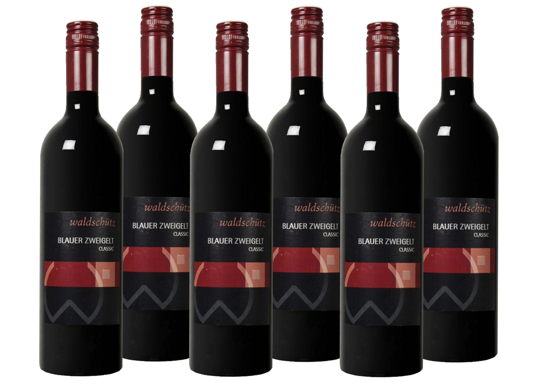 Rotwein aus Österreich »12,5 % - 6 x 0,75 l - Waldschütz 2015«