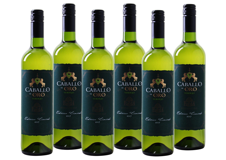Weißwein aus Spanien »13 % - 6 x 0,75 l - Caballo de Oro 2017«