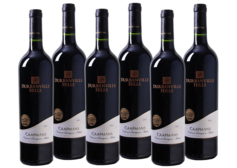 Rotwein aus Südafrika »14,5% 6 x 0,75 Liter - Durbanville Hills 2011«