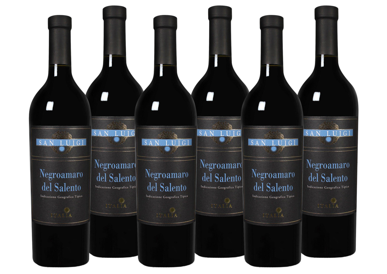 Rotwein aus Italien »13 % - 6 x 0,75 l - San Luigi 2017«