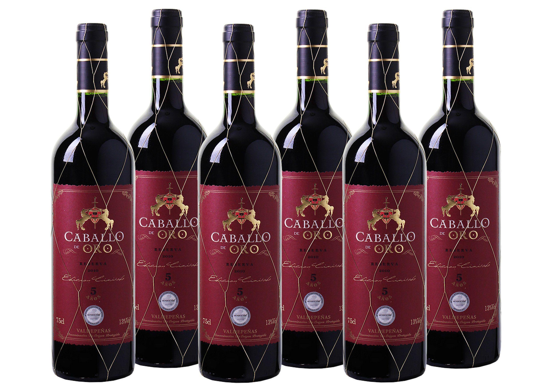 Rotwein aus Spanien »13 % - 6 x 0,75 l - Caballo de Oro 2010«