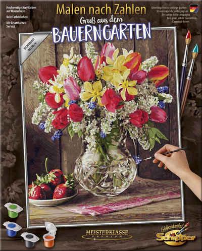 Schipper Malen nach Zahlen »Meisterklasse Premium, Gruß aus dem Bauerngarten«, Made in Germany