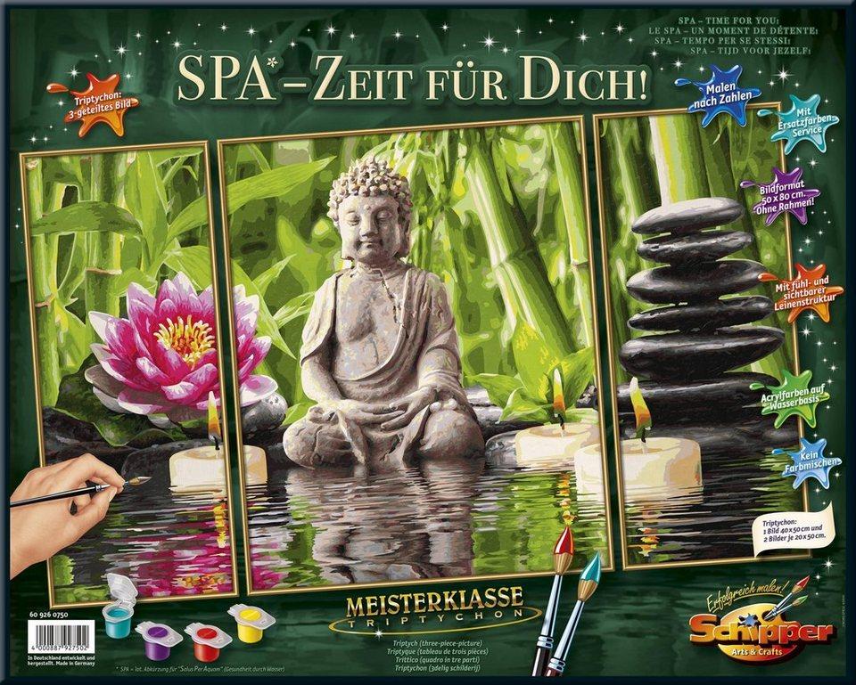 Schipper Malen Nach Zahlen Meisterklasse Triptychon Spa Zeit Für Dich Online Kaufen Otto