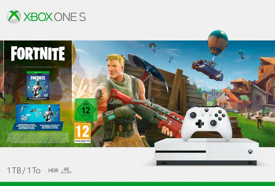 xbox one s 1tb bundle inkl fortnite bundle digitale. Black Bedroom Furniture Sets. Home Design Ideas