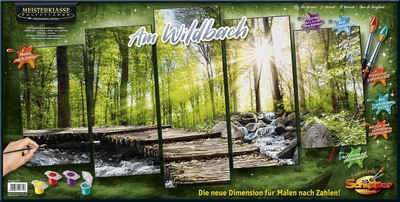 Schipper Malen nach Zahlen »Meisterklasse Polyptychon, Am Wildbach«, Made in Germany