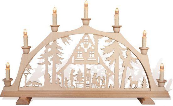 """rauta Schwibbogen »""""Im Waldhaus ist Weihnachten""""« (1-tlg), 7-flammig"""