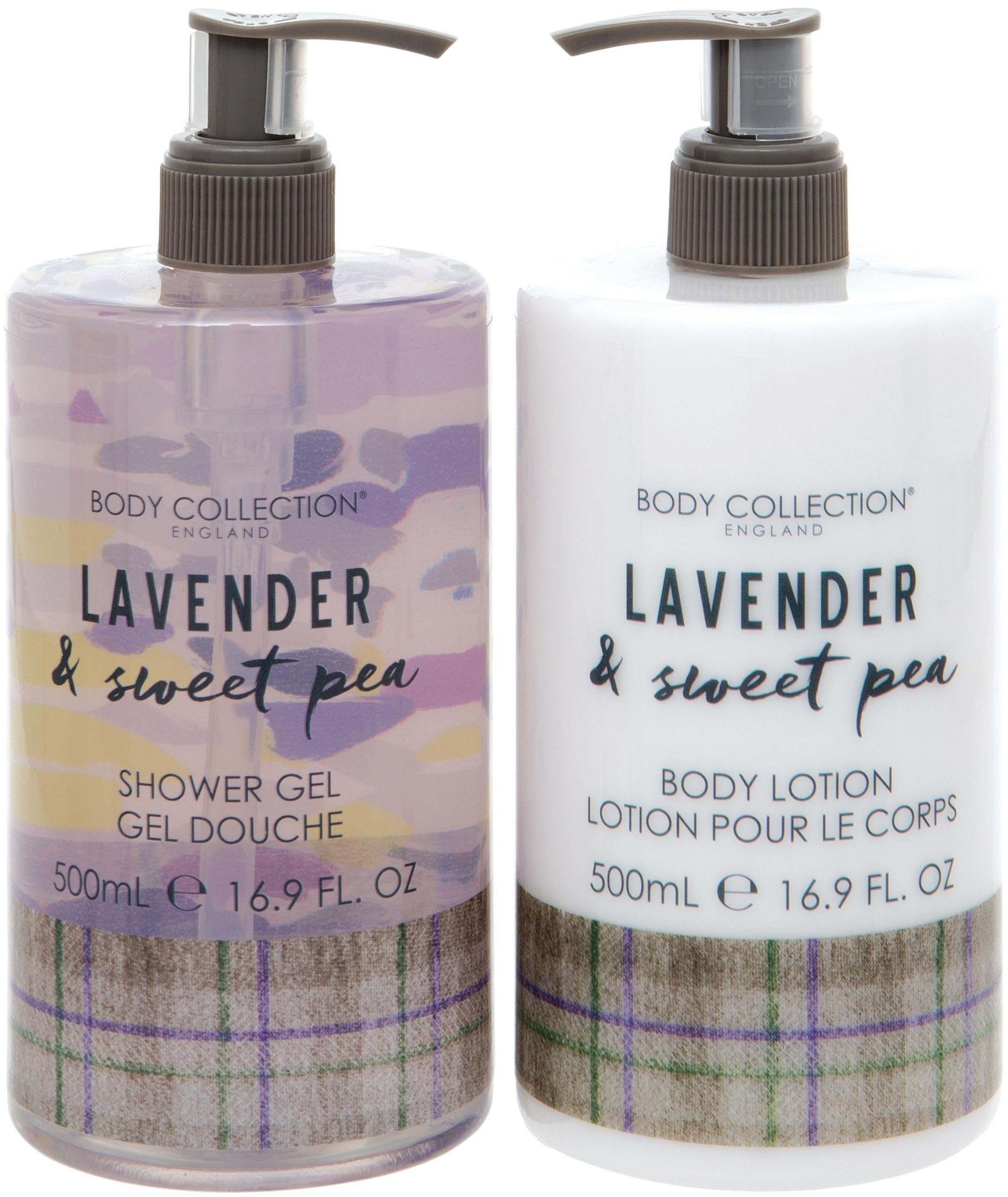 Body Collection, »Lavender & Sweet Pea Body Duo«, Körperpflege-Set (2-tlg.)