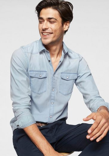TOM TAILOR Denim Langarmhemd im Jeans Look