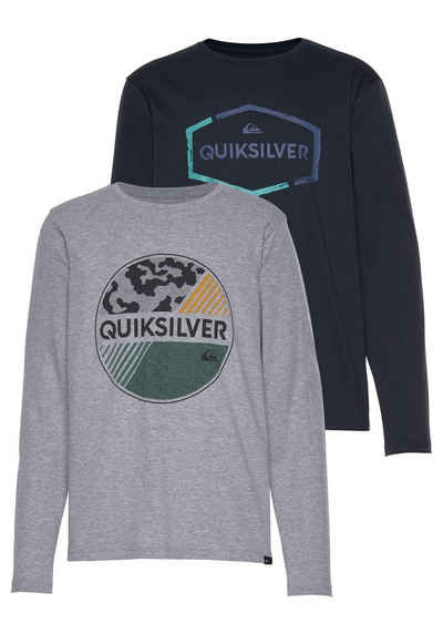 0b2d1a8783 Quiksilver Langarmshirt »LS FKLAXTON YOUTH PACK WHEEL OFF« (Packung, 2-tlg