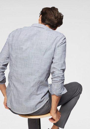 Webband Denim Tom Langarmhemd Tailor Kontrastfarbenes 5IPwTZ