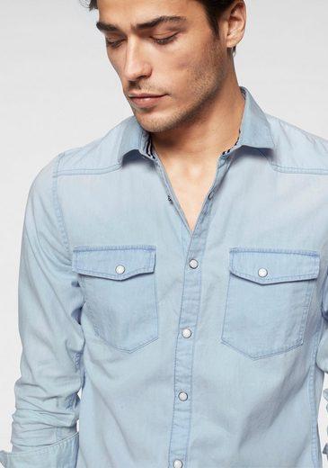 Tom Im Denim Look Langarmhemd Tailor Jeans xfvxqBF