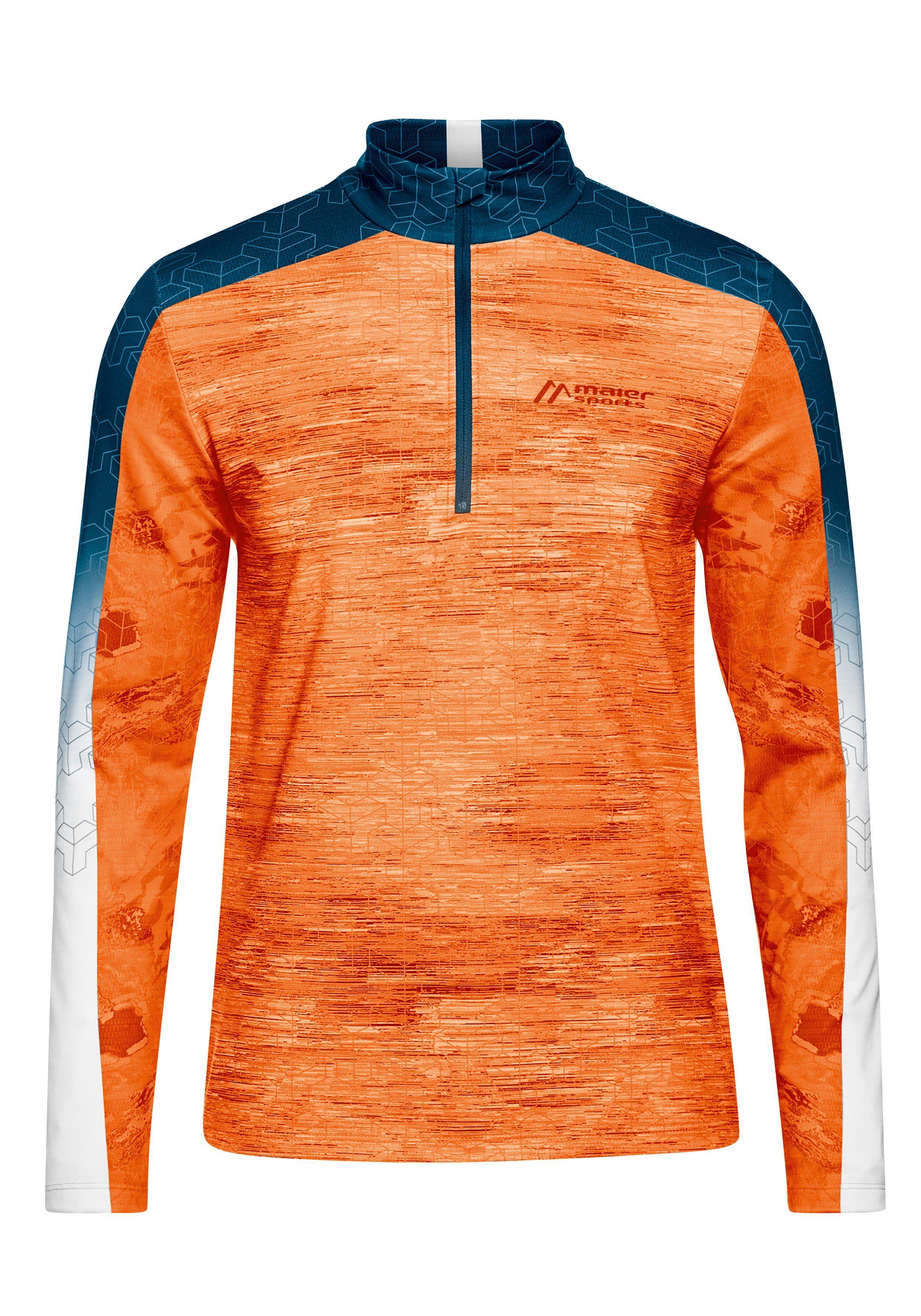 orange fleece Langarm Shirts für Herren online kaufen