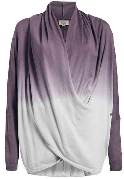 60/% khujo Damen Pullover JANELLE roter Feinstrick-Pullover in Wickel-Optik SALE