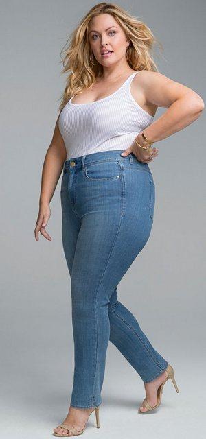 Hosen - NYDJ Shape Slim »in Curves 360 Denim« › blau  - Onlineshop OTTO