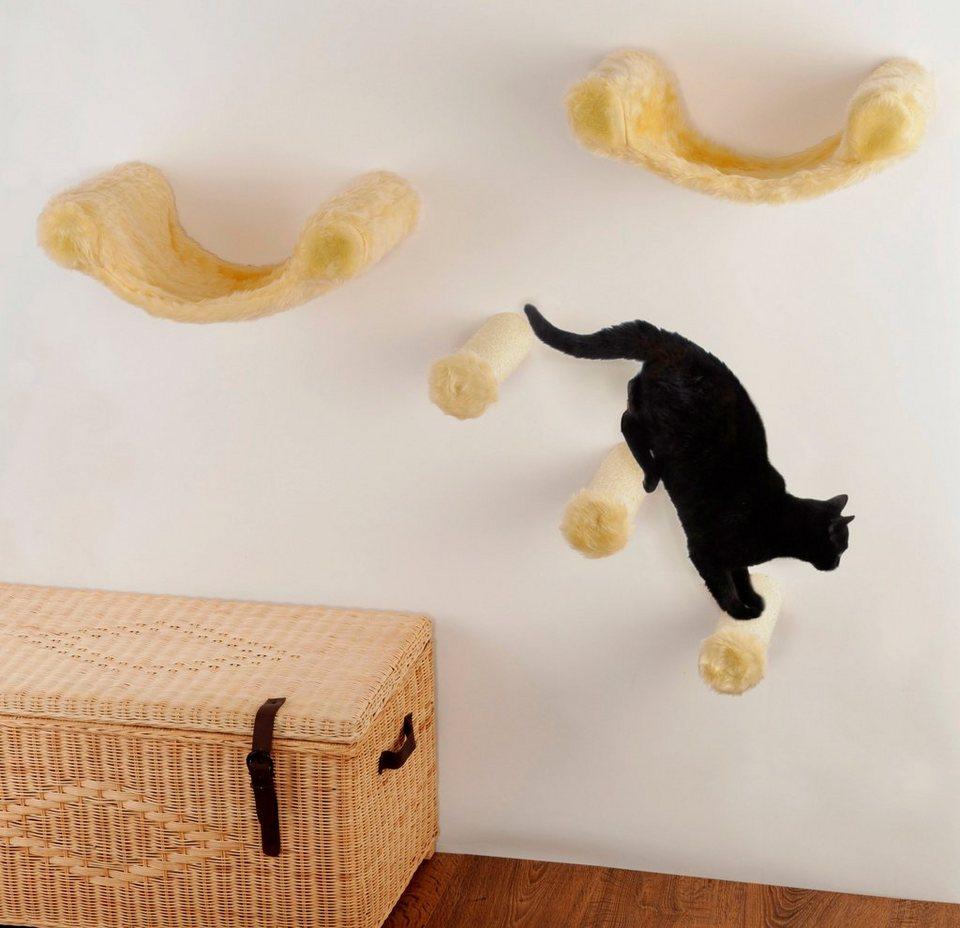 silvio design katzen kletterwand finja 5 tlg bxlxh 130x30x110 cm online kaufen otto. Black Bedroom Furniture Sets. Home Design Ideas