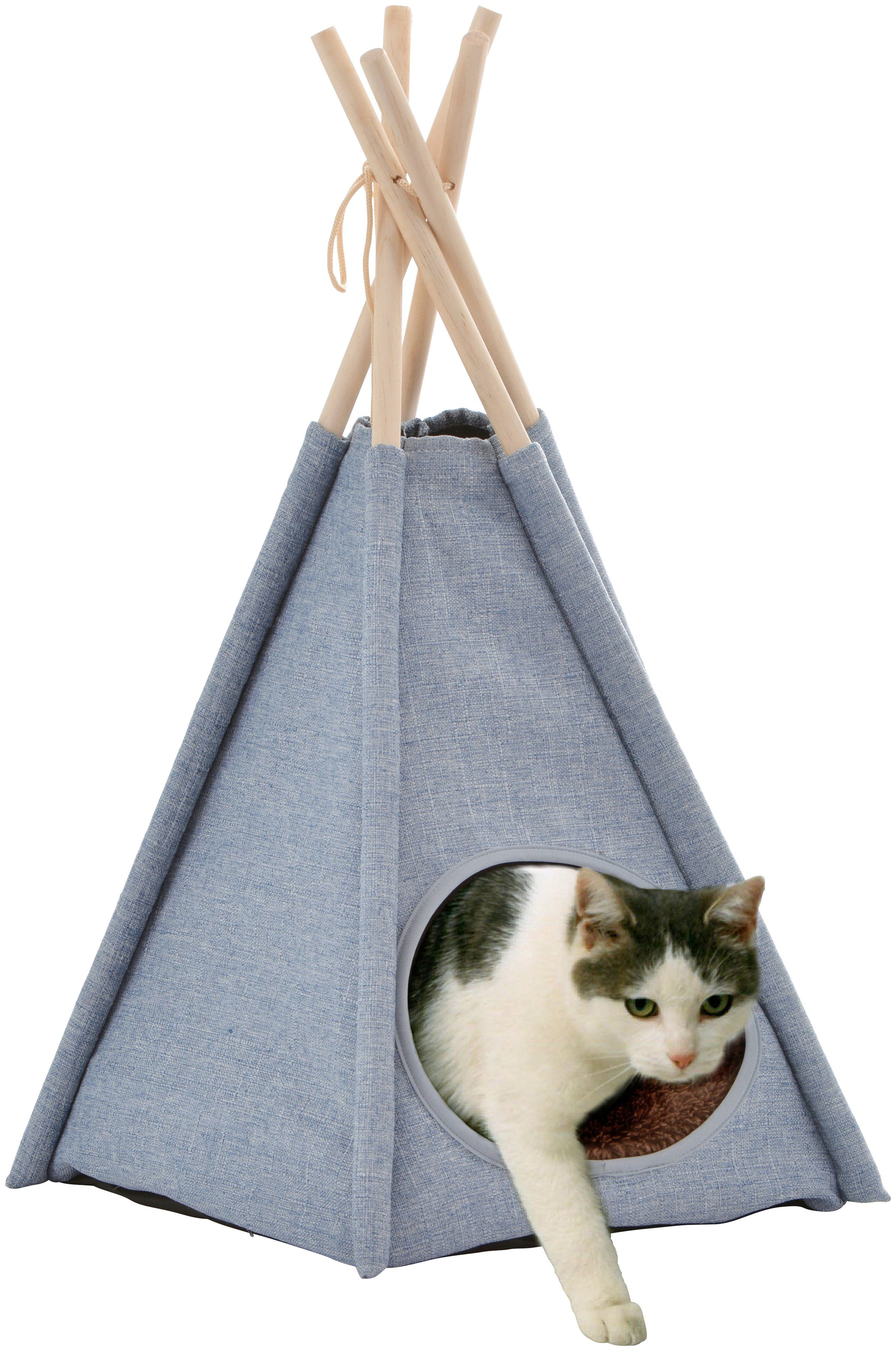 SILVIO DESIGN Hundehöhle und Katzenhöhle »Heimtier-Tipi Yuma«, BxLxH: 40x40x58 cm