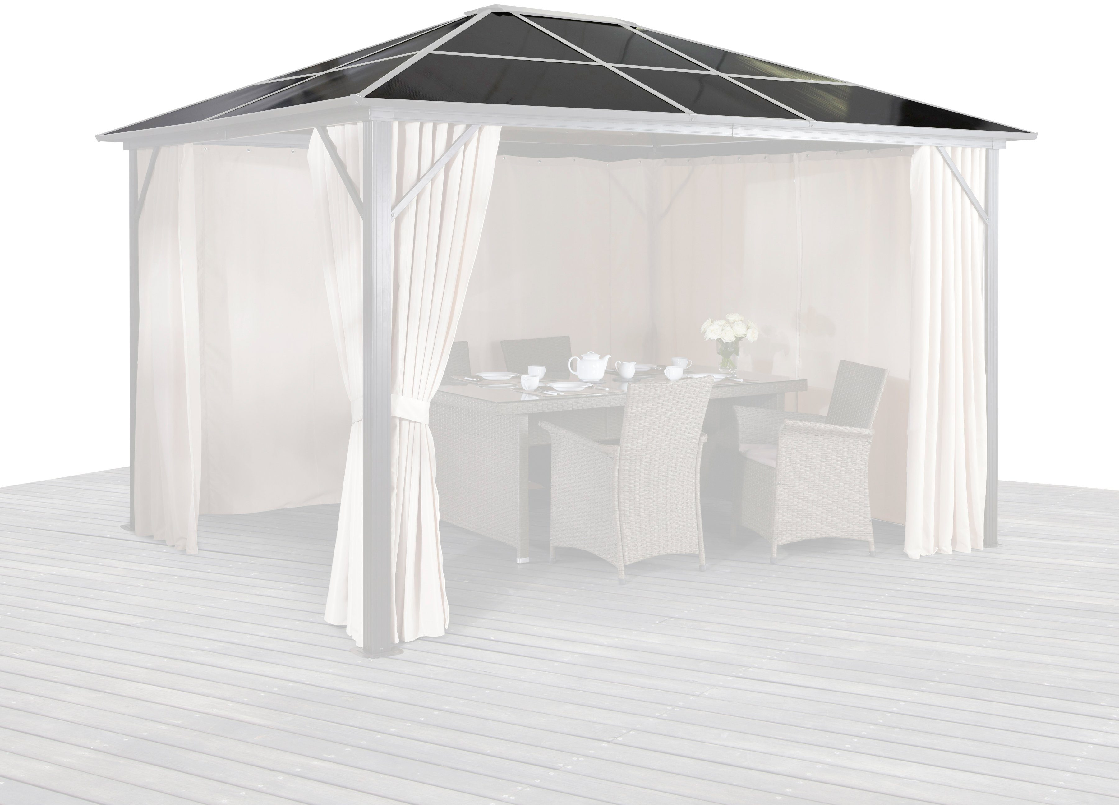 KONIFERA Ersatzdach für Pavillon »Aruba«, Dachplatten für »Aruba« 300x300 cm