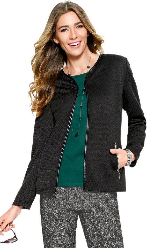 Damen Classic Basics Blazer aus angenehm strukturiertem Jersey schwarz | 08935267277624