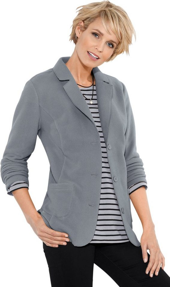 Damen Classic Basics Fleece-Blazer mit Antipilling-Ausrüstung grau | 08935267282680